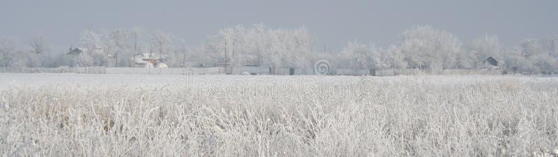 Affiche de panorama de l'hiver images libres de droits