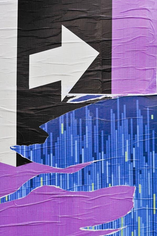 Affiche de Paperwall images libres de droits