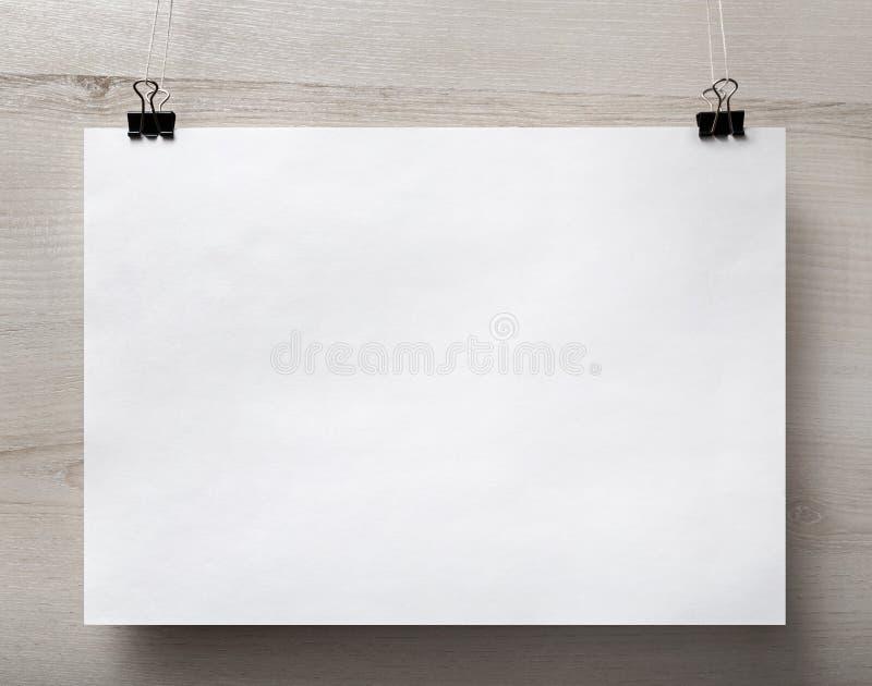 Affiche de papier blanc photo libre de droits
