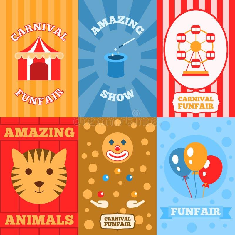 Affiche de parc d'attractions illustration libre de droits
