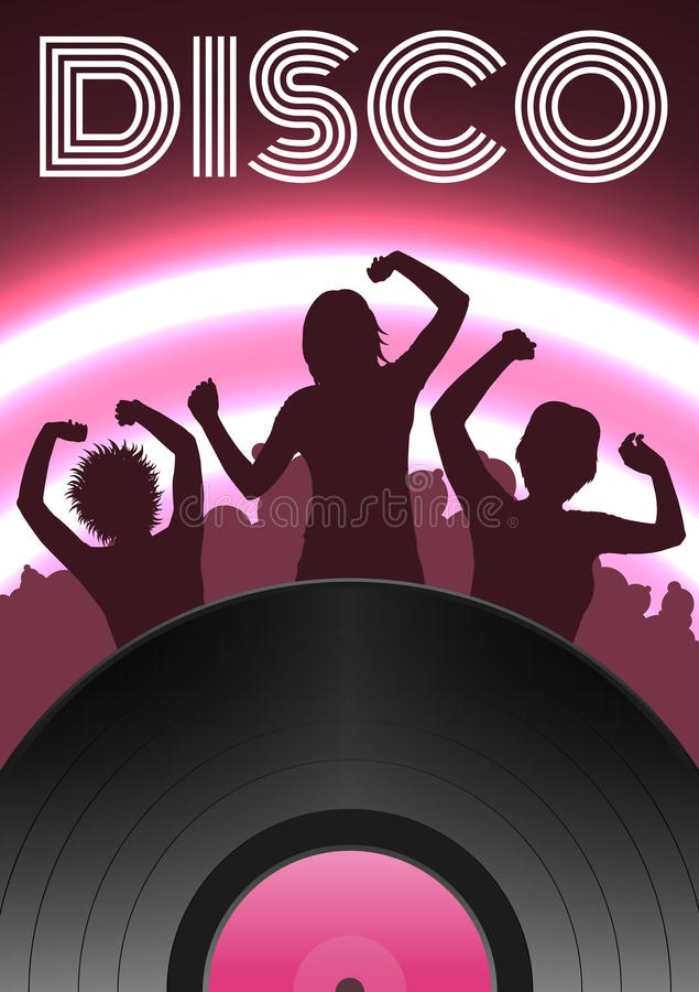 Affiche de partie de disco illustration de vecteur