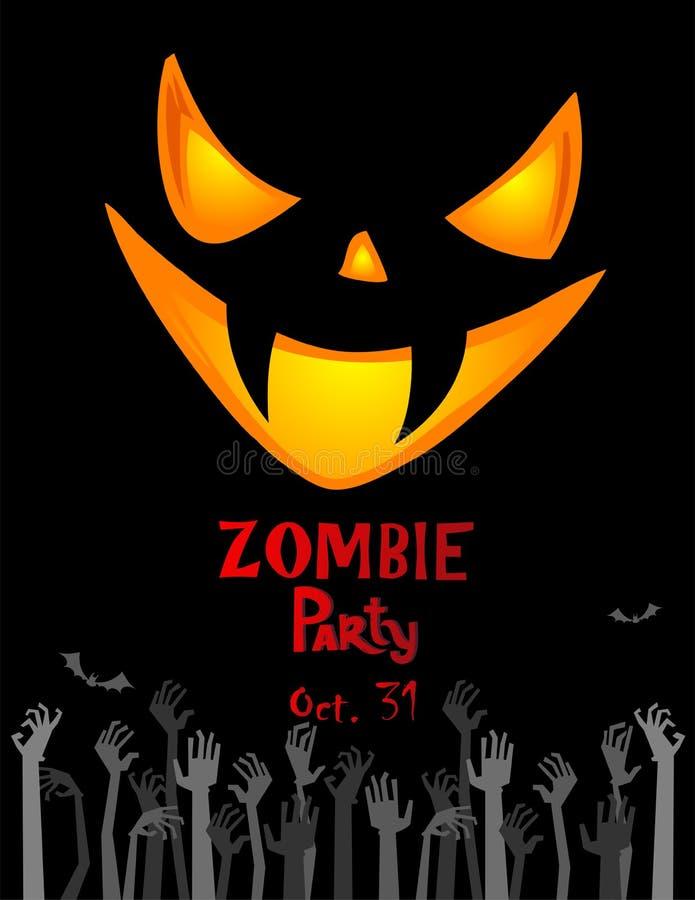Affiche de partie de Halloween illustration stock