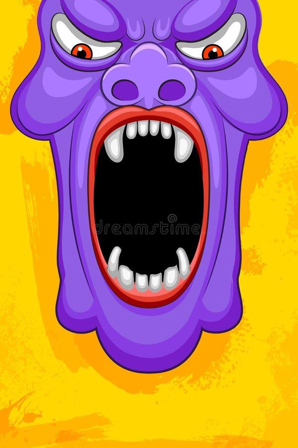 Affiche de partie de monstre de Halloween illustration libre de droits