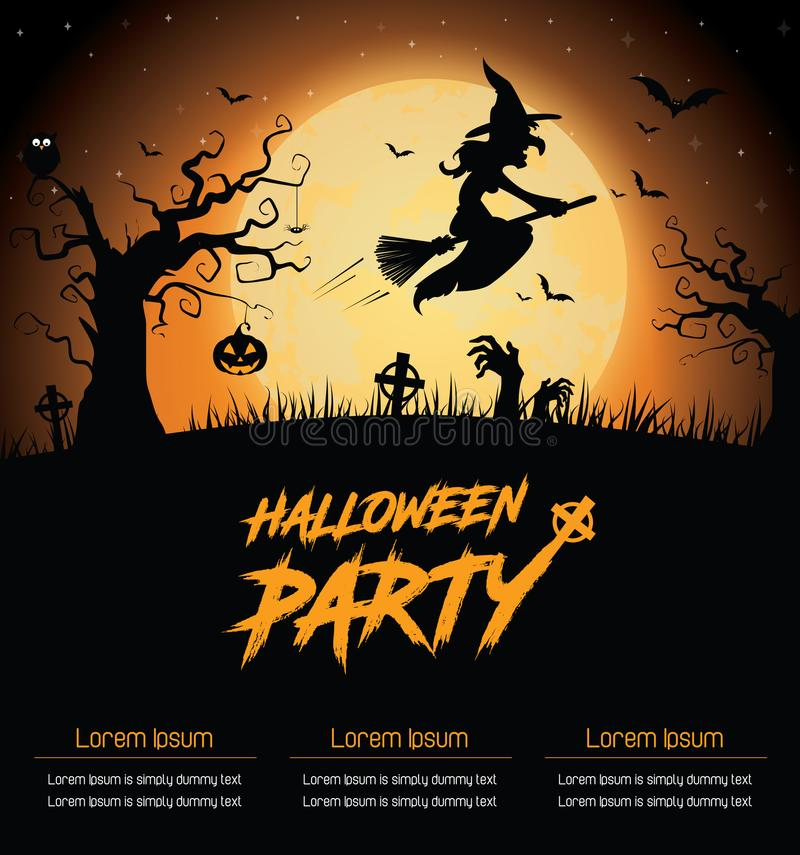 Affiche de partie de Halloween photos stock