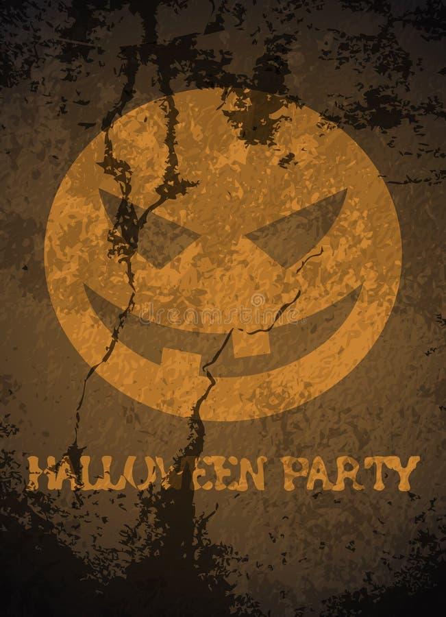 Affiche de partie de thème de Halloween illustration stock