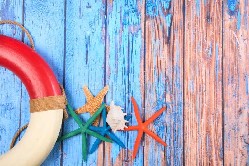 Affiche de plage avec les étoiles de mer et l'espace de copie images stock