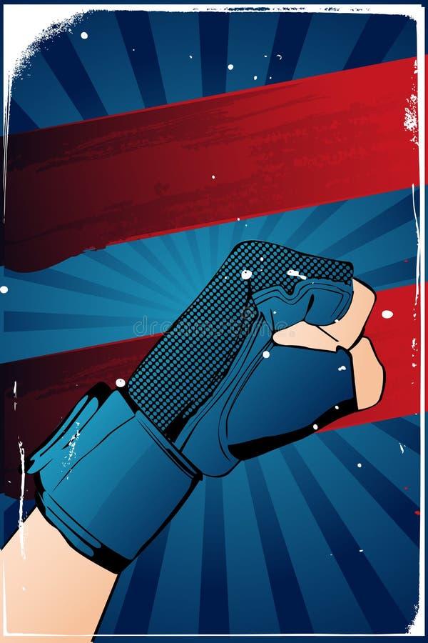 Affiche de poing illustration stock