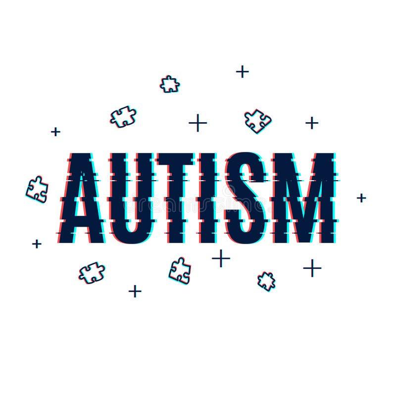 Affiche de problème d'autisme illustration stock