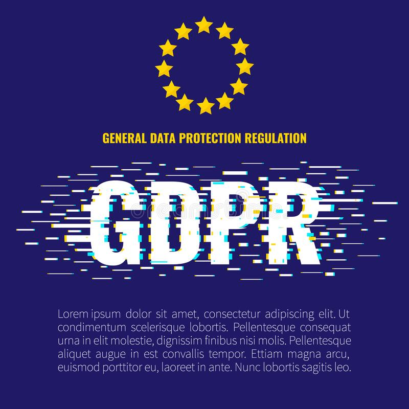 Affiche de problème de GDPR illustration libre de droits