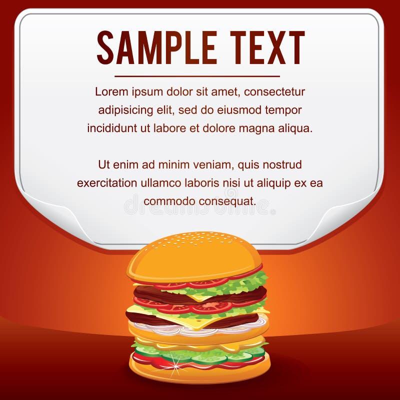 Affiche de produit d'aliments de préparation rapide pour la carte de vente de conception de boutique illustration libre de droits
