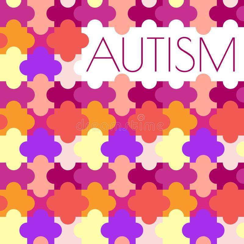 Affiche de puzzle d'autisme illustration de vecteur