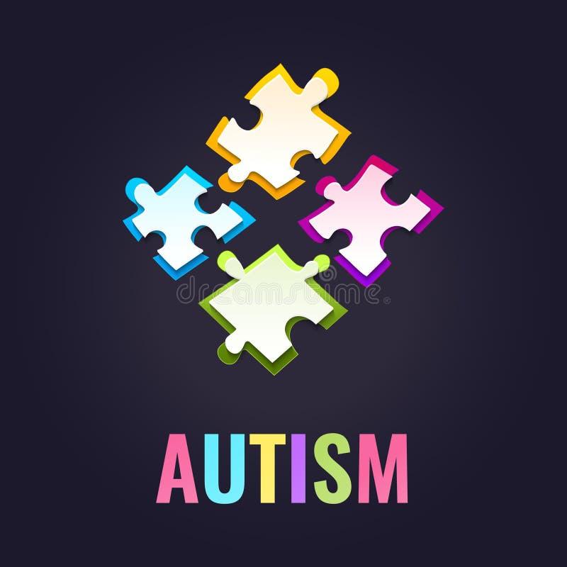 Affiche de puzzle de conscience d'autisme illustration de vecteur