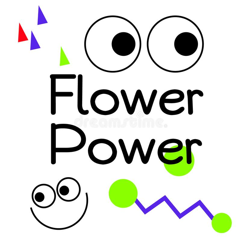 Affiche de signe de citation de Flower Power illustration de vecteur