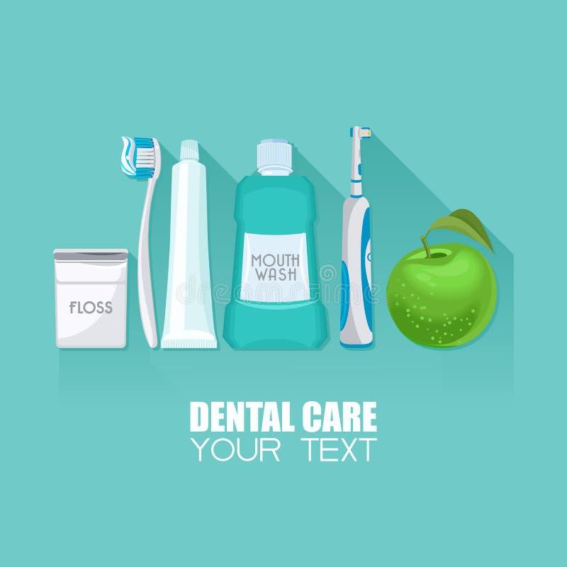 Affiche de soins dentaires illustration de vecteur