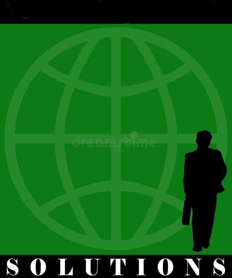 Affiche de solutions d'homme d'affaires illustration stock