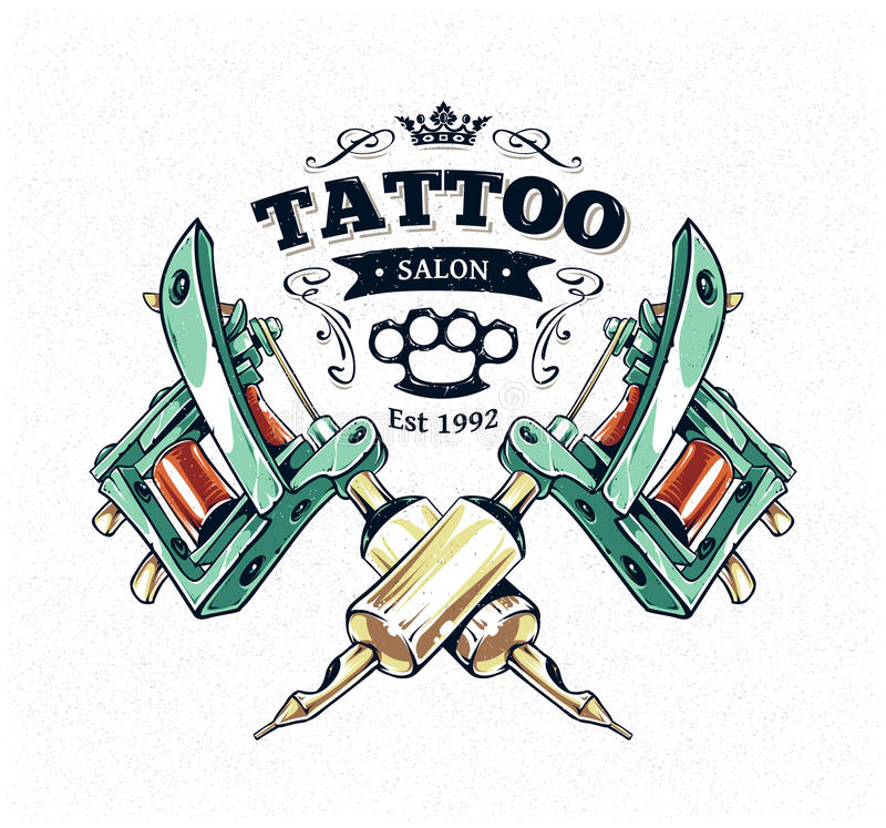 Affiche de studio de tatouage illustration libre de droits