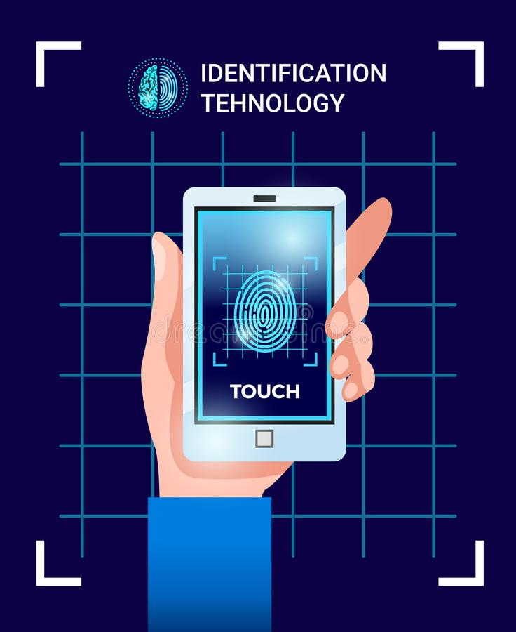 Affiche de technologies d'identification illustration stock
