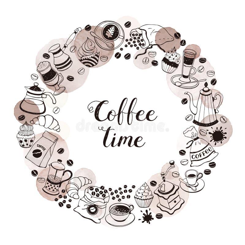 Affiche de temps de café illustration stock