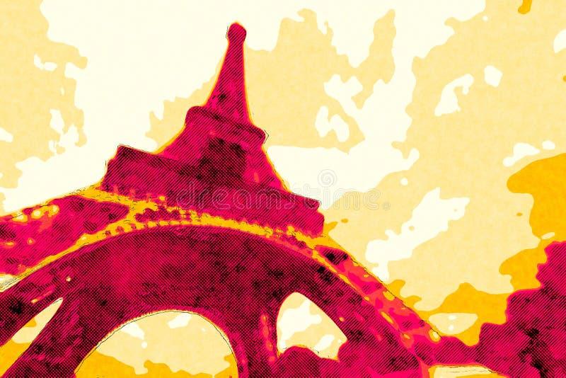 Affiche de Tour Eiffel illustration de vecteur