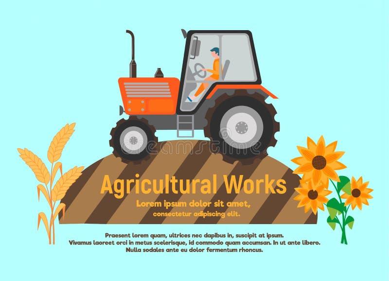 Affiche de travail agricole illustration stock