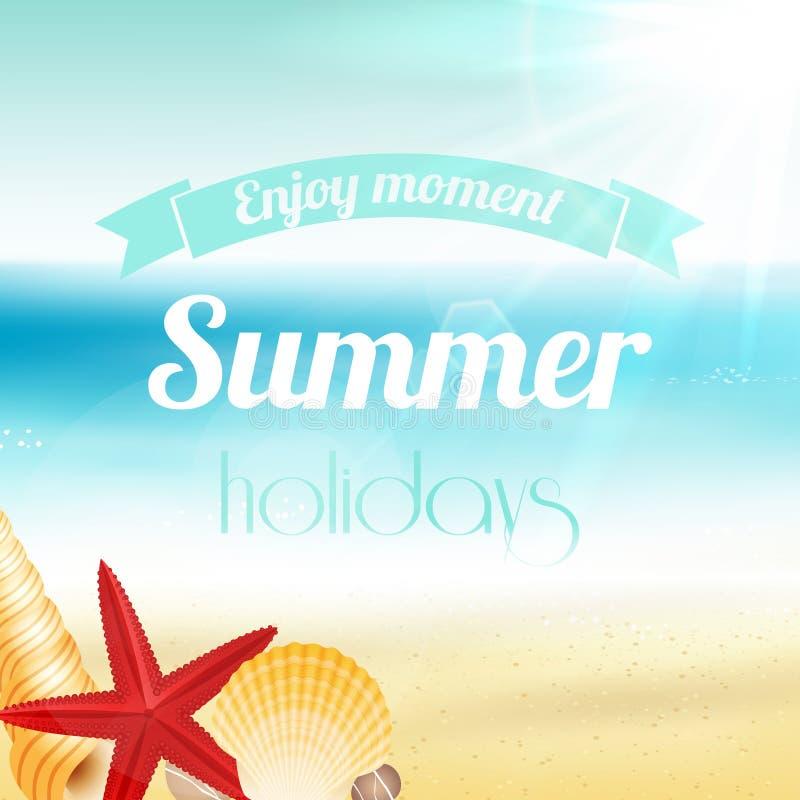 Affiche de vacances de vacances d'été illustration stock