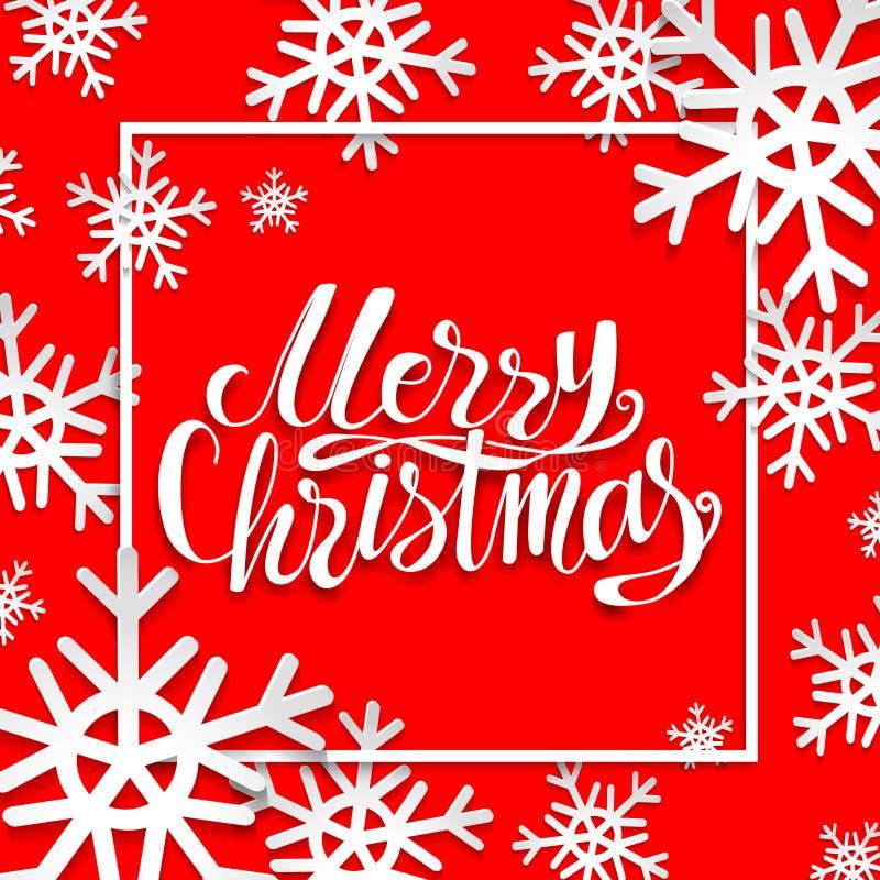 Affiche de vacances de Noël illustration stock