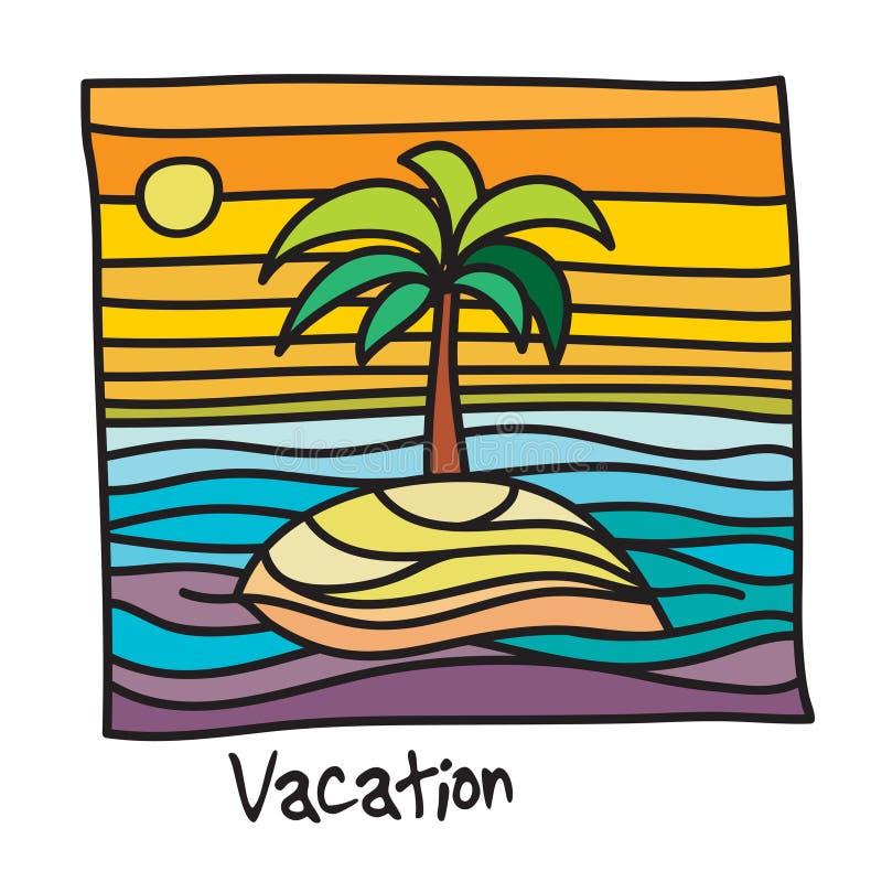 Affiche de vacances de plage illustration stock