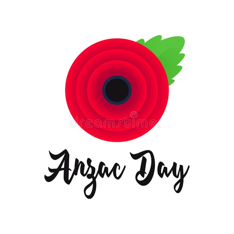Affiche de vecteur d'Anzac Day De peur que nous oubliions illustration libre de droits