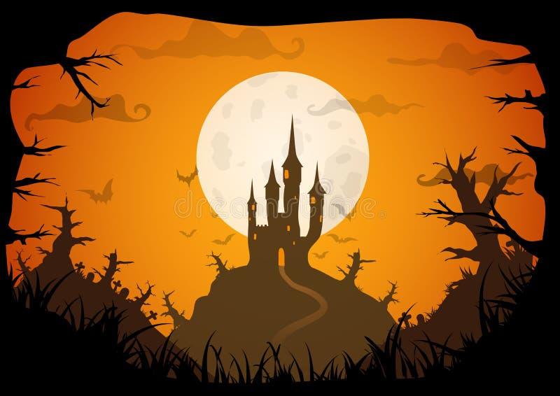 Affiche de vecteur de Halloween illustration de vecteur