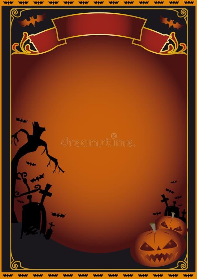 Affiche de Veille de la toussaint illustration de vecteur