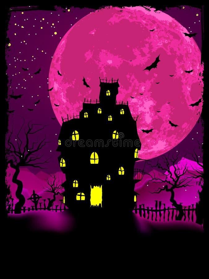 Affiche de Veille de la toussaint avec le fond de zombi. ENV 8 illustration de vecteur