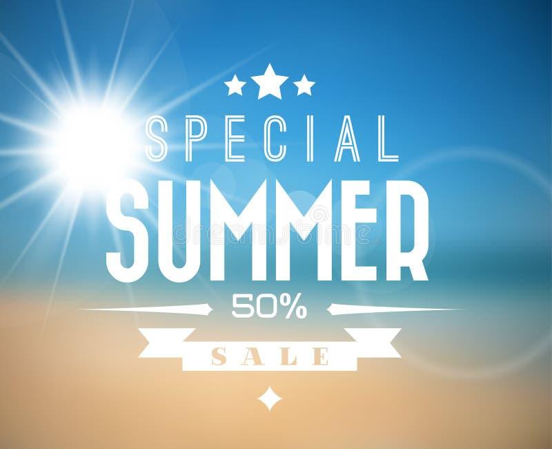 Affiche de vente d'été de vecteur illustration stock