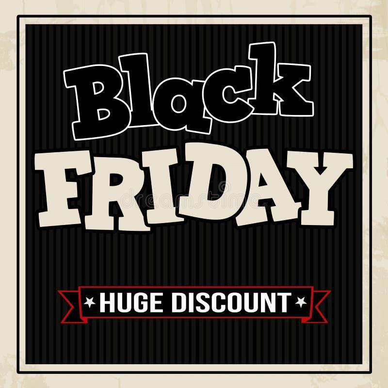 Affiche de vente de Black Friday illustration libre de droits