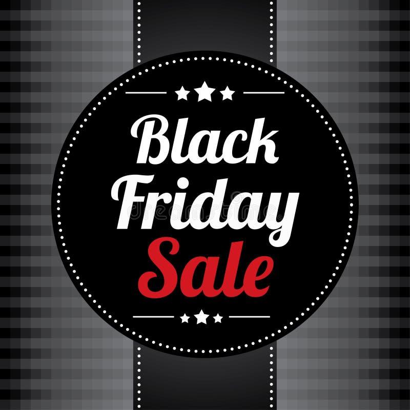 Affiche de vente de Black Friday illustration de vecteur