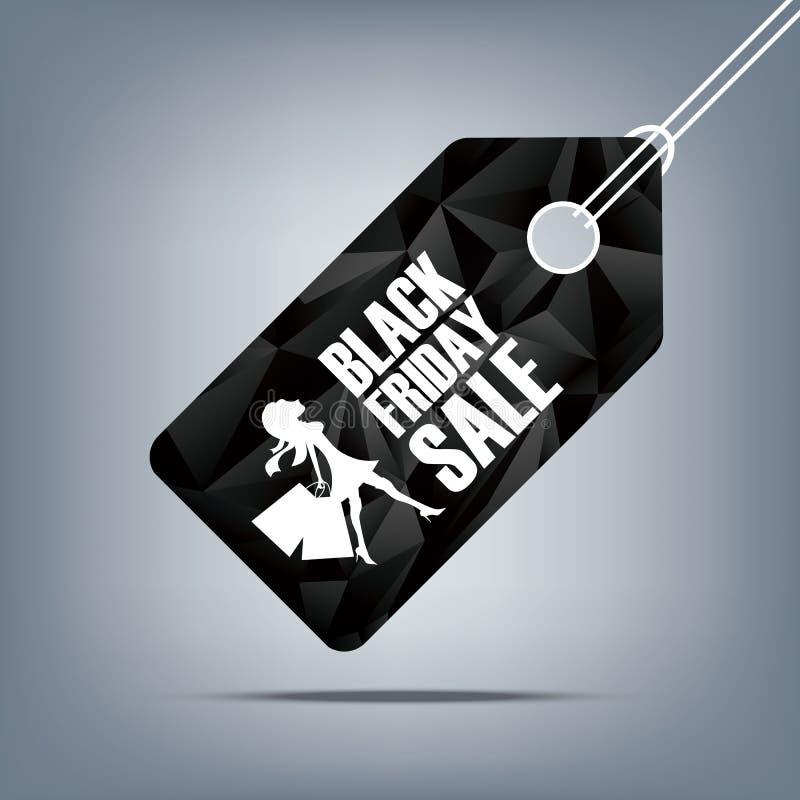 Affiche de vente de Black Friday Bas fond polygonal illustration stock