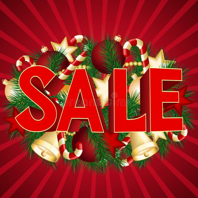 Affiche de vente de Noël illustration de vecteur