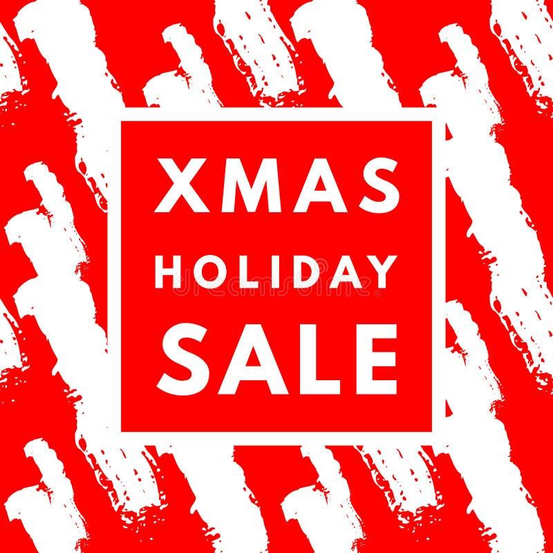 Affiche de vente de vacances de Noël illustration libre de droits