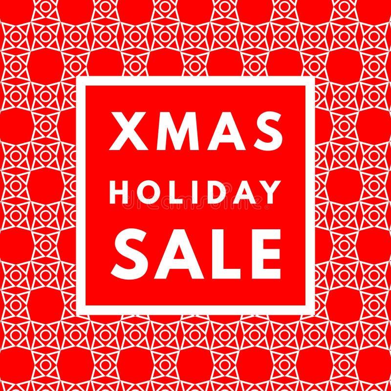 Affiche de vente de vacances de Noël illustration de vecteur