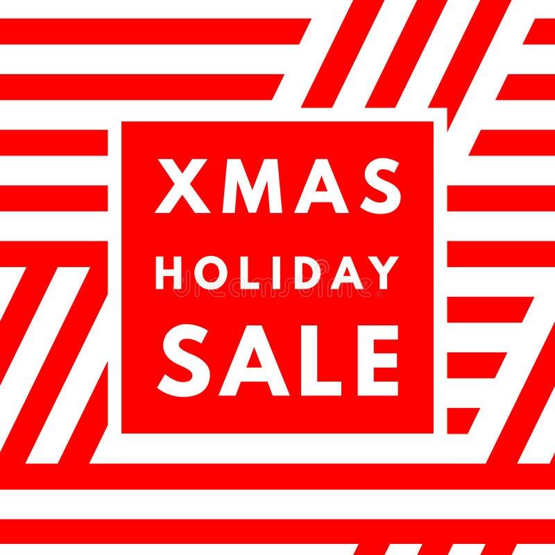 Affiche de vente de vacances de Noël illustration stock