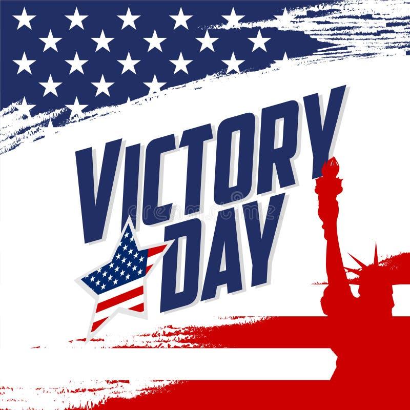Affiche de Victory Day illustration stock