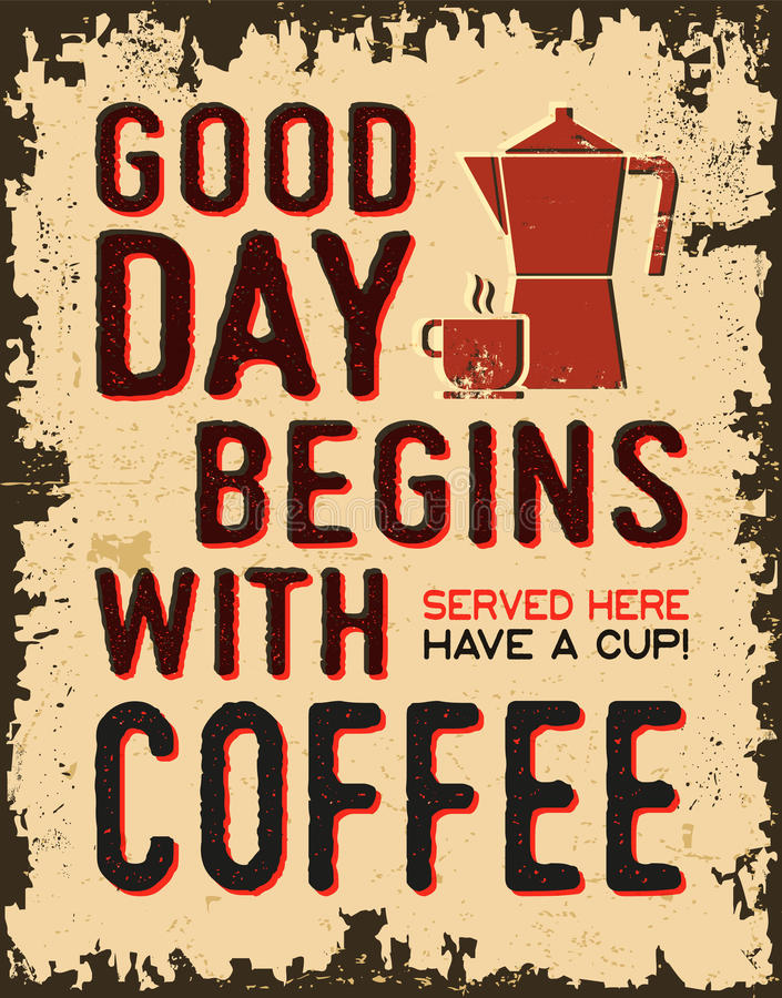 Affiche de vintage de café illustration stock