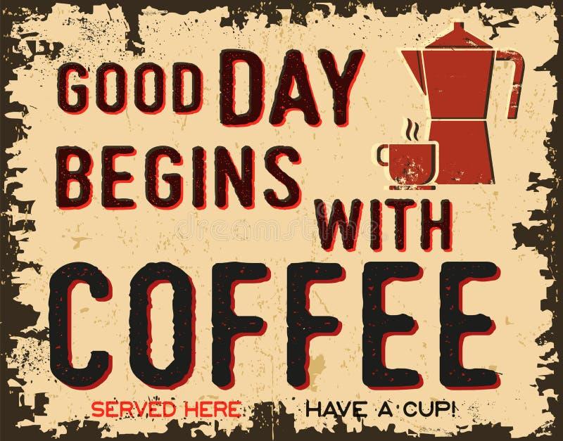 Affiche de vintage de café illustration libre de droits