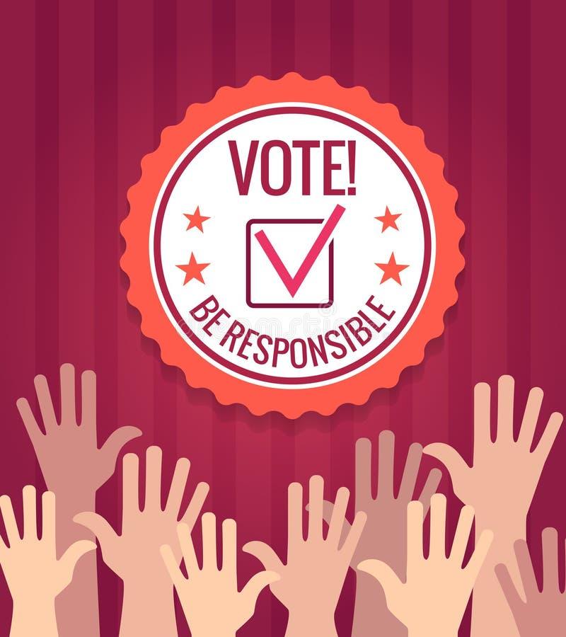 Affiche de vote d'élections illustration libre de droits