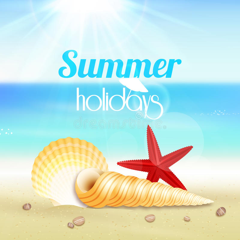 Affiche de voyage de vacances de vacances d'été illustration de vecteur