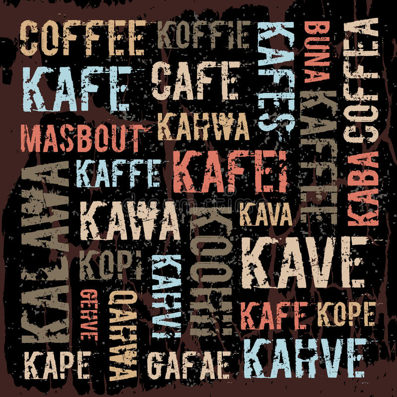 Affiche, decoratieve panelen binnen geëtiketteerd koffie vector illustratie