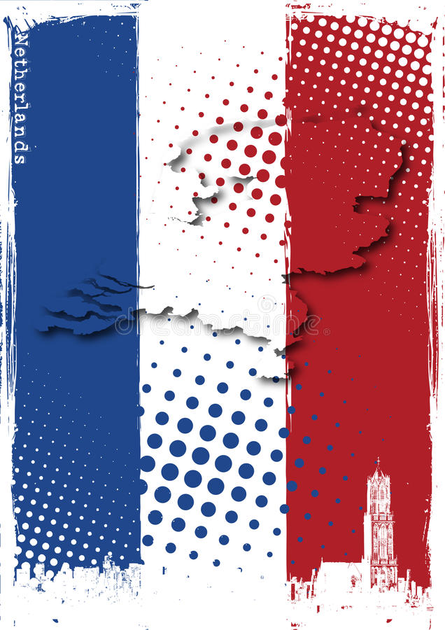 Affiche des Hollandes illustration de vecteur
