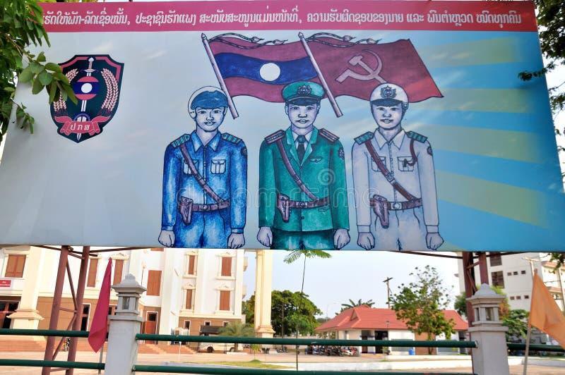 Affiche des Laotiens image stock