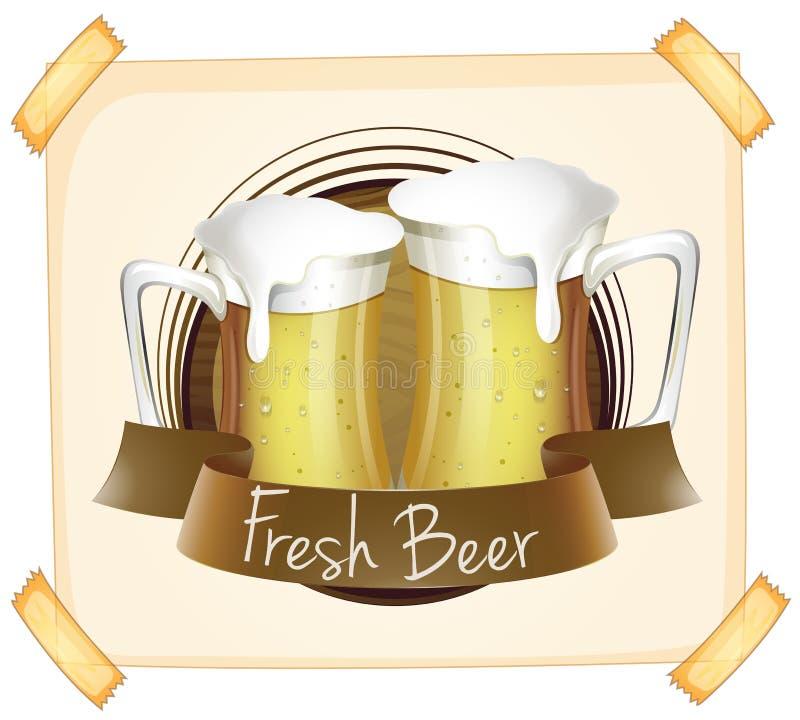 Affiche die vers bier adverteren vector illustratie