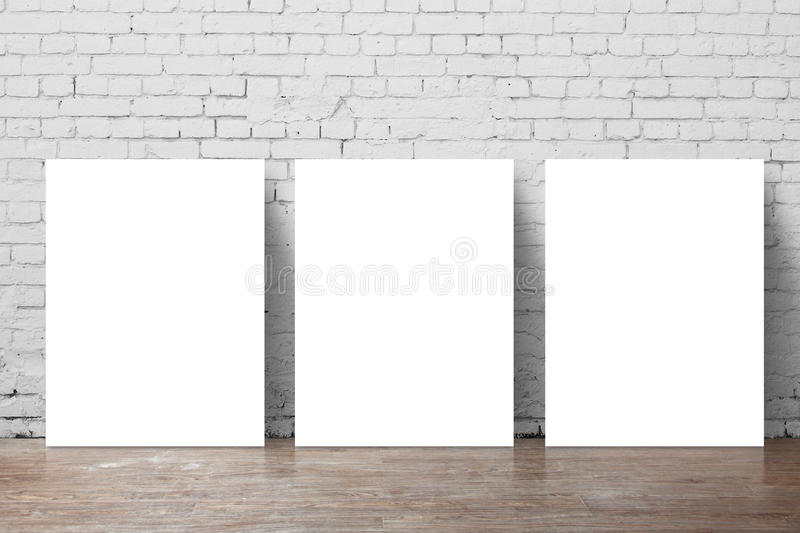 Affiche drie stock afbeelding