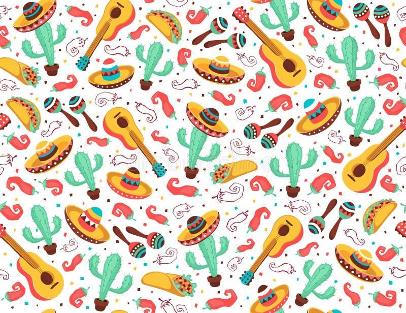 Affiche du Mexique de vivats illustration de vecteur